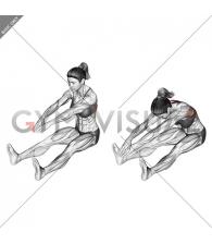 Sitting Bent Over Back Stretch (female)