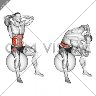 Spinal Stretch (on stability ball) (male)