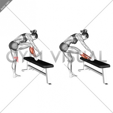 Standing Gastrocnemius Calf Stretch (female)