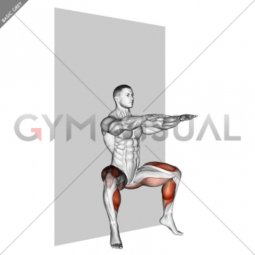 Plyo Sit Squat (wall)