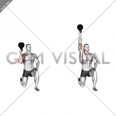 Kettlebell Half Kneeling One Arm Bottoms-Up Press