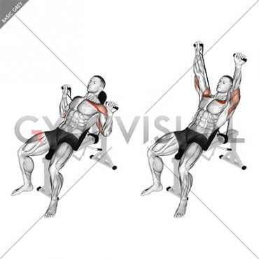 Band Incline Bench Press