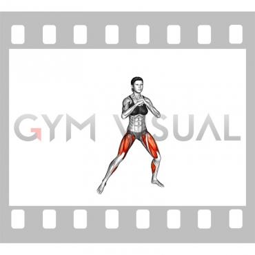 Bodyweight Side Squat Step (female)