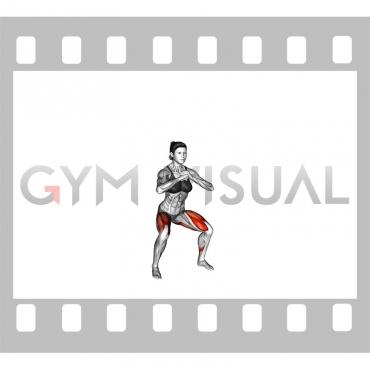 Bodyweight Pulse Squat (female)