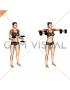 Dumbbell Bent Arm Lateral Raise (female)