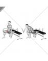 Hip Flexor Stretch Rear foot elevated (male)