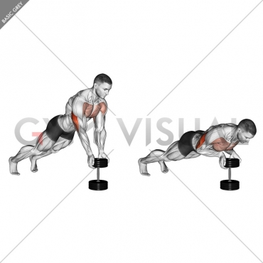 Push-Up Close-grip off Dumbbell