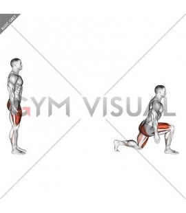 Bodyweight Forward Lunge (Hinge at Hips)