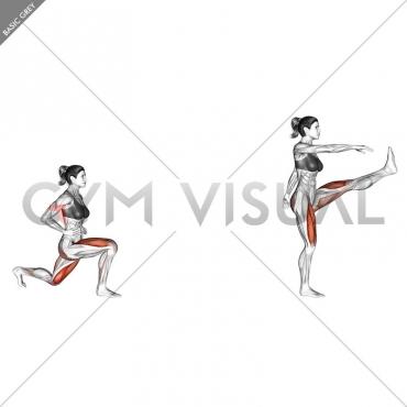 Reverse Lunge (leg kick)