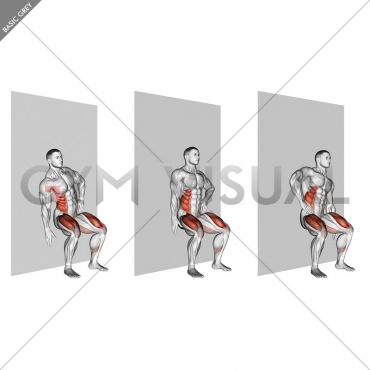Seated Side Crunch (Wall)