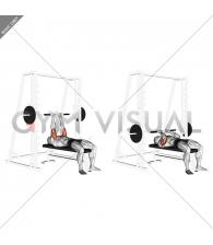 Smith Close-Grip Bench Press