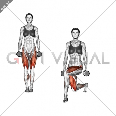 Dumbbell Curtsey lunge