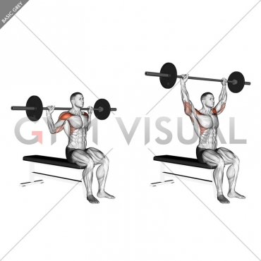 Barbell Seated Behind Head Military Press