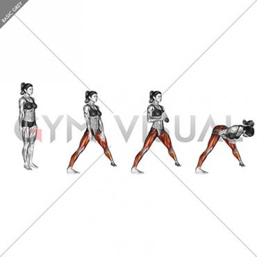 Stand Spread Leg Forward Fold
