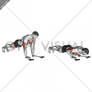 Band close-grip push-up