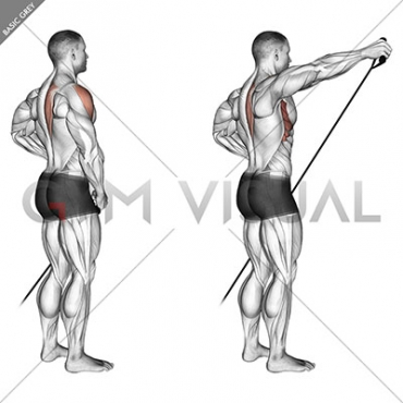 Band front lateral raise