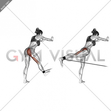 Band bent-over hip extension