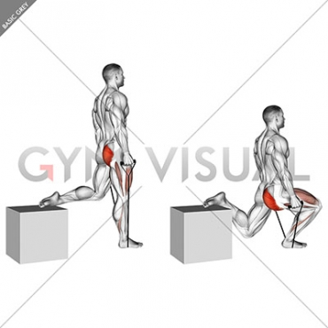 Band single leg split squat