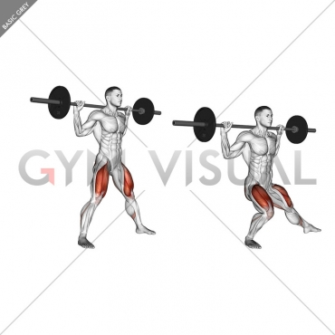 Barbell Side Split Squat (version 2)