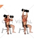 Dumbbell Seated Shoulder Press