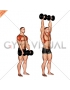 Dumbbell Standing Front Raise Above Head