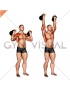 Kettlebell Two Arm Military Press