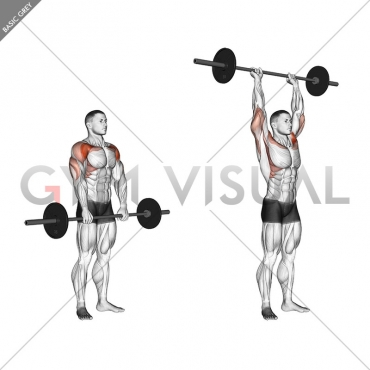 Barbell Standing Front Raise Over Head
