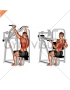 Reverse grip machine lat pulldown