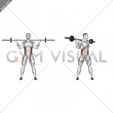 Barbell Standing Twist