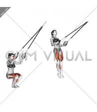Suspension Jump Squat