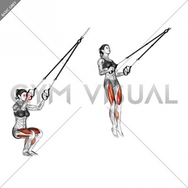 Suspension Jump Squat