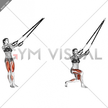 Suspension Side Cross Lunge