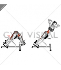 45 degree twisting hyperextension