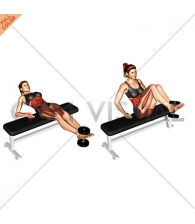 Weighted Twisting Crunch (on bench)