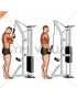 Cable Standing One Arm Tricep Pushdown (Overhand Grip)