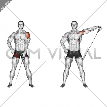 Cable One Arm Lateral Raise