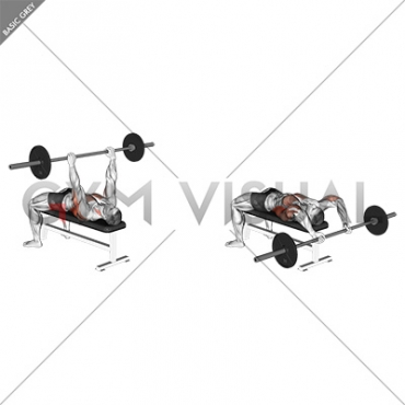 less than $0 75 per 1 illustration after 10 items in cart  barbell bent arm  pullover