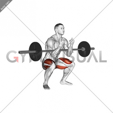 Barbell Zercher Squat Hold Isometric