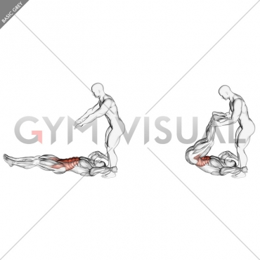 Assisted Lying Leg Raise With Throw Down