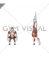 Squat to Overhead Reach with Twist
