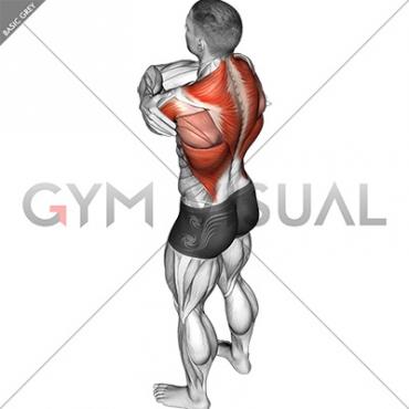Wrap around shoulder stretch