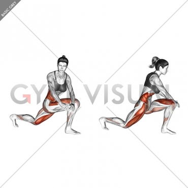 Crossover Kneeling Hip Flexor Stretch