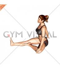 Sitting One Leg External Stretch