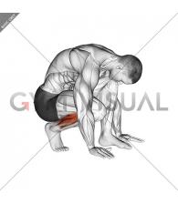 Squatting Toe Stretch