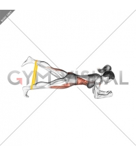 Resistance Band Front Plank With Kicked Leg