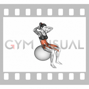 Ball Sit-up (on stability ball)