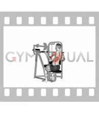 Lever reverse-grip lat pulldown